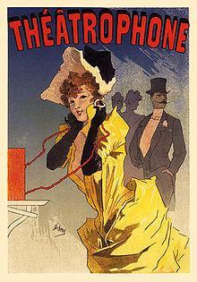 Le Théâtrophone, an 1896 lithograph from the Lès Maître de L'Affiches series by Jules Chéret